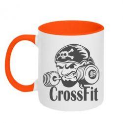 Кружка двухцветная Angry CrossFit - FatLine