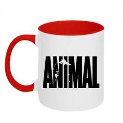 Кружка двухцветная Animal Gym - FatLine