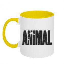 Кружка двухцветная Animal Logo - FatLine