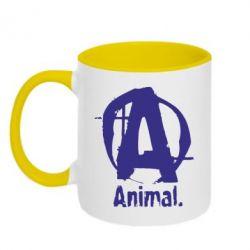 Кружка двухцветная Animal - FatLine