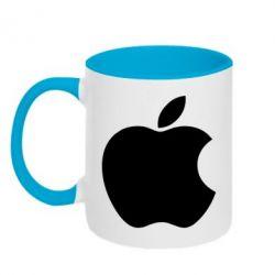 Кружка двухцветная Apple Corp. - FatLine
