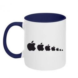 Кружка двухцветная Apple Evolution - FatLine