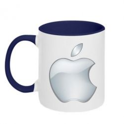 Кружка двухцветная Apple Silver - FatLine