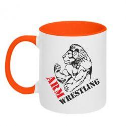 Кружка двухцветная Arm Wrestling - FatLine