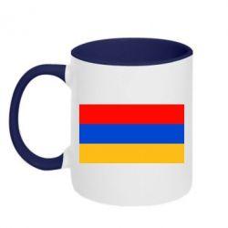 Кружка двухцветная Армения - FatLine