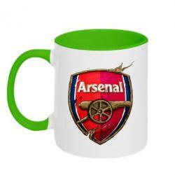 Кружка двухцветная Arsenal Art Logo - FatLine