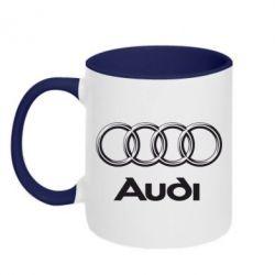 Кружка двухцветная Audi Small - FatLine