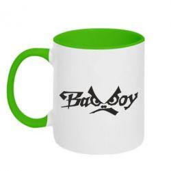 Кружка двухцветная Bad Boy Logo - FatLine