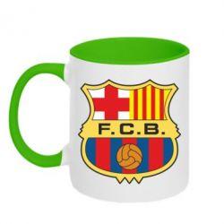 Кружка двухцветная Barcelona - FatLine