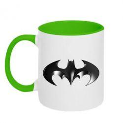 """Кружка двухцветная Batman """"3d Logo"""" - FatLine"""