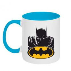 Кружка двухцветная Batman face - FatLine