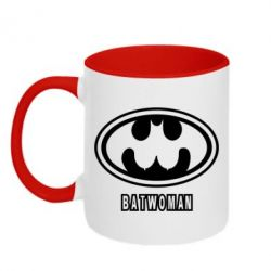 Кружка двухцветная Batwoman - FatLine