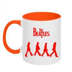 Кружка двухцветная Beatles Group - FatLine