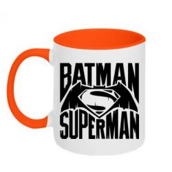 Кружка двухцветная Бэтмен vs. Супермен - FatLine