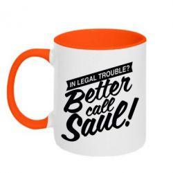 Кружка двухцветная Better call Saul! - FatLine
