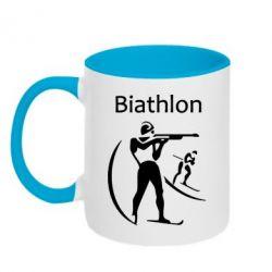 Кружка двухцветная Biathlon - FatLine