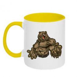 Кружка двухцветная Big Bear - FatLine