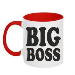 Кружка двухцветная Big Boss - FatLine