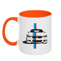 Кружка двухцветная BMW F30 - FatLine