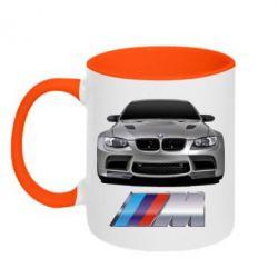 Кружка двухцветная BMW M Power Car - FatLine