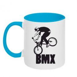 Кружка двухцветная Bmx Boy - FatLine