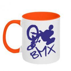 Кружка двухцветная BMX - FatLine