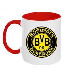 Кружка двухцветная Borussia Dortmund - FatLine