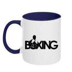 Кружка двухцветная Boxing Art - FatLine