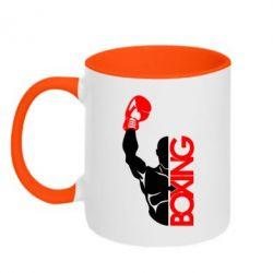 Кружка двухцветная Boxing Fighter - FatLine