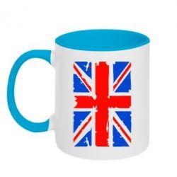 Кружка двухцветная Британский флаг - FatLine