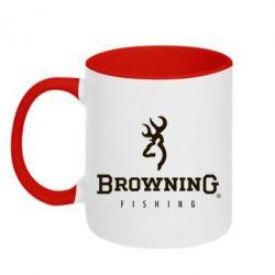 Кружка двухцветная Browning - FatLine