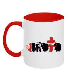 Кружка двухцветная Брутто Лого - FatLine