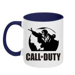 Кружка двухцветная Call of Duty Logo - FatLine