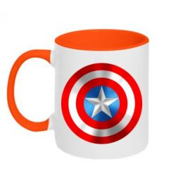 Кружка двухцветная Captain America 3D Shield - FatLine