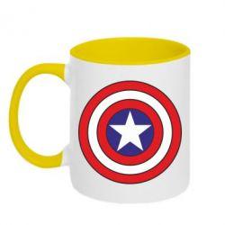 Кружка двухцветная Captain America - FatLine
