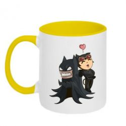Кружка двухцветная Catwoman and Angry Batman - FatLine
