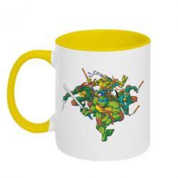 Кружка двухцветная Черепашки-ниндзя - FatLine