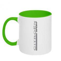 Кружка двухцветная Citroen Спорт - FatLine