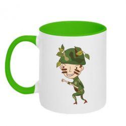 Кружка двухцветная Cміливий солдат - FatLine