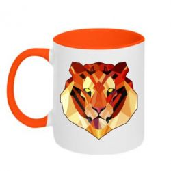 Кружка двухцветная Colorful Tiger - FatLine