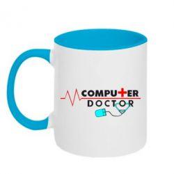 Кружка двухцветная Computer Doctor - FatLine