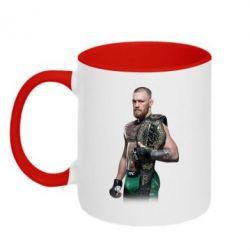 Кружка двухцветная Conor McGregor Belt - FatLine