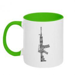 Кружка двухцветная Counter Strike M16 - FatLine