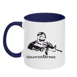Кружка двухцветная Counter Strike Player - FatLine