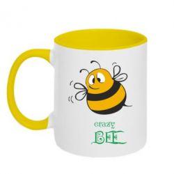 Кружка двухцветная Crazy Bee - FatLine
