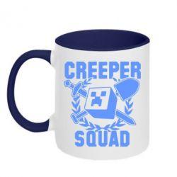 Кружка двухцветная Creeper Squad - FatLine
