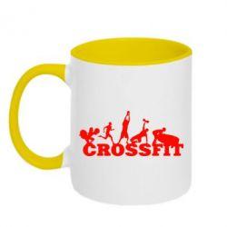 Кружка двухцветная Crossfit - FatLine