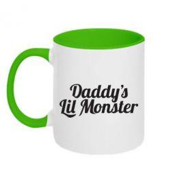 Кружка двухцветная Daddy's Lil Monster - FatLine