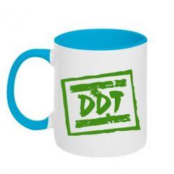 Кружка двухцветная DDT (ДДТ) - FatLine
