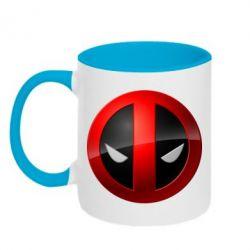 Кружка двухцветная Deadpool Logo - FatLine